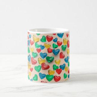Hearts of colors coffee mug
