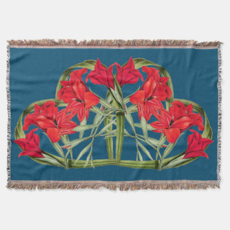 Hearts of Flowers Floral Vintage Botanical Throw