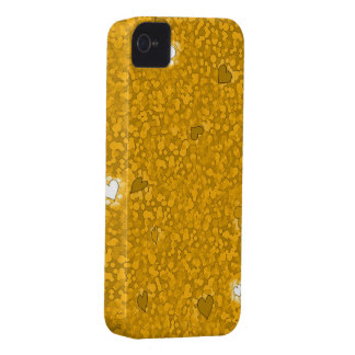 Hearts of gold iphone 4 barely case