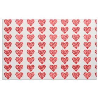 Hearts of Love print fabric