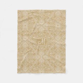 Hearts of My Heart Monogrammed Fleece Blanket