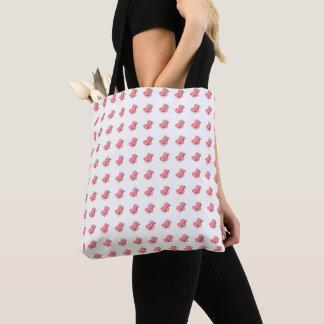 Hearts of Yarn & Knitting Needles Crafts Print Tote Bag