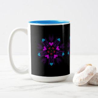 Hearts on a mug. Two-Tone coffee mug