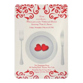 Hearts on a Plate Rehearsal Dinner Invitation