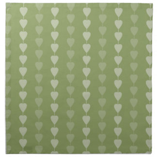 Hearts on a string pattern printed napkin