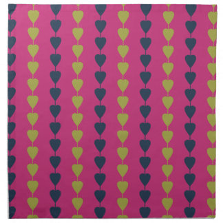 Hearts on a string pattern printed napkins