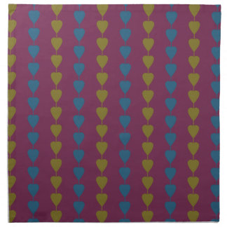 Hearts on a string pattern cloth napkin