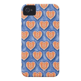 Hearts on Blue iPhone 4/4S Case