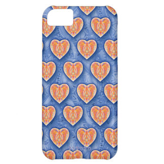 Hearts on Blue iPhone 5 Case