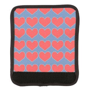 Hearts on Blue Luggage Handle Wrap