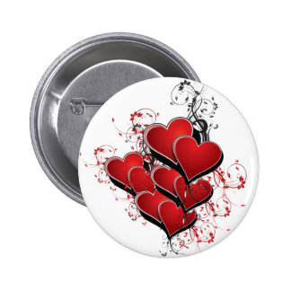 Hearts on Fire 2 Inch Round Button