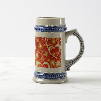 Hearts On Fire Beer Stein