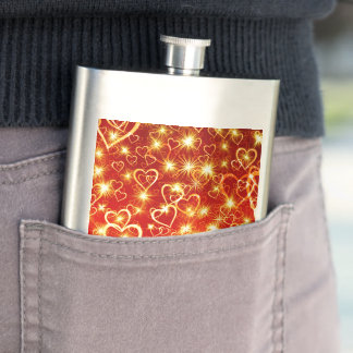 Hearts On Fire Hip Flask