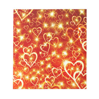 Hearts On Fire Notepad