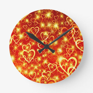 Hearts On Fire Round Clock