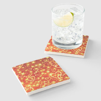 Hearts On Fire Stone Coaster