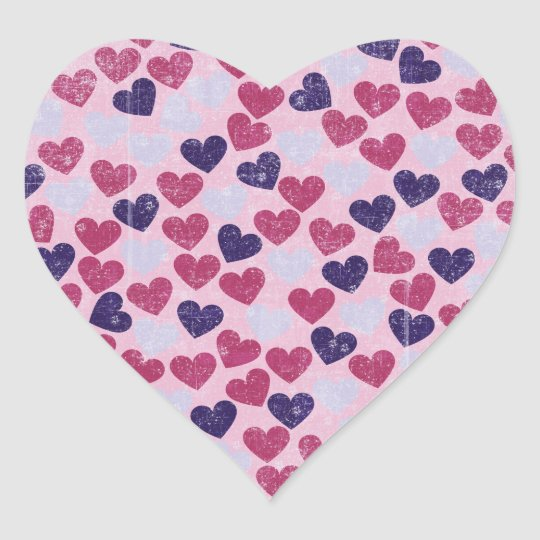 Hearts on Hearts Heart Sticker