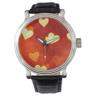 hearts on smooth red on watch