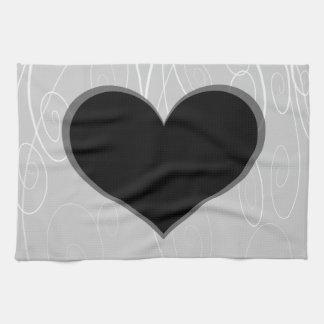 Hearts on Swirls Hand Towel