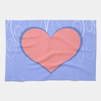 Hearts on Swirls Towel