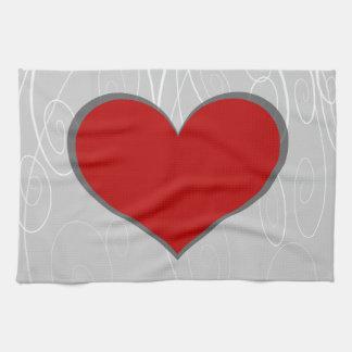 Hearts on Swirls Towels