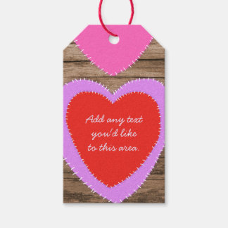 Hearts on Wood Valentine's Day Gift Tags Pack Of Gift Tags