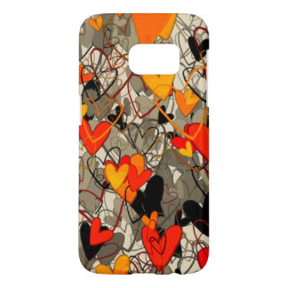 Hearts Ornate Artistic Vibrant Bright Dramatic Samsung Galaxy S7 Case