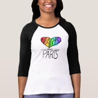 Hearts Over Parts LGBT Pride T-Shirt