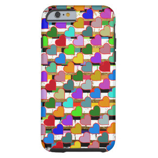 hearts pattern colorful tough iPhone 6 case