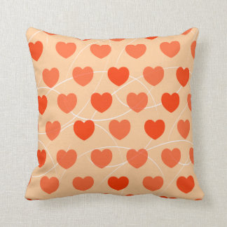 Hearts pattern, double face pillow