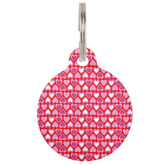 Hearts pattern pet tag