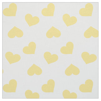 Hearts Pattern | Yellow Fabric