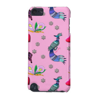 Hearts Peacocks - Pink Cyan Delight iPod Touch 5G Cases