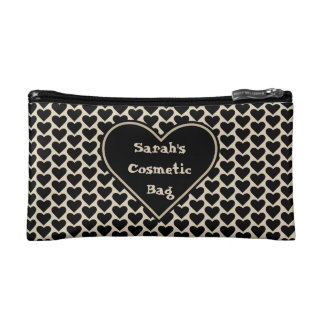 Hearts Personalized Cosmetic Bag Template 2