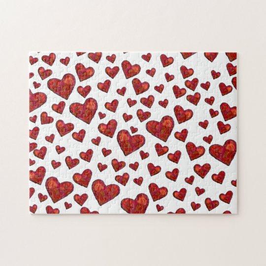 Hearts Photo Puzzle