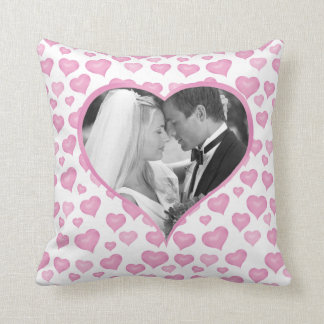 Hearts Photo Valentine's Day Pillow