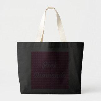 Hearts Pink Diamonds Jumbo Tote Bag