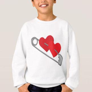 Hearts pins sweatshirt
