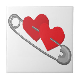 Hearts pins tile