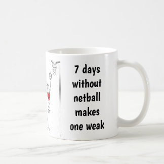 Hearts Player Positions Funny Netball Quote Coffee Mug