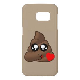 Hearts & Poop Emojis Samsung Galaxy S7 Case