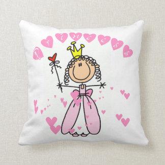 Hearts Princess Throw Pillow