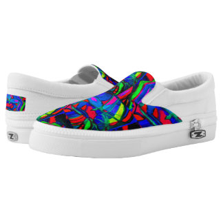 Heart's Rainbow Slip-On Sneakers