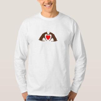 Hearts Red Dobermans T-Shirt