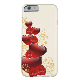 Hearts red rose code028 barely there iPhone 6 case