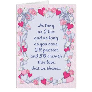 Hearts & Ribbon Romance Card