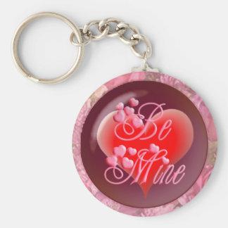 HEARTS, ROSES BE MINE by SHARON SHARPE Keychain