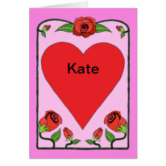 Hearts & Roses Valentine's Day card