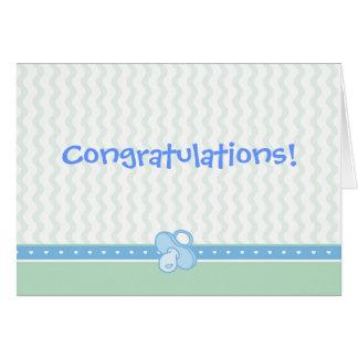 Hearts/Ruffles/Pacifier Congratulations Card