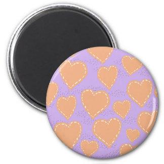 hearts scrapbook magnet